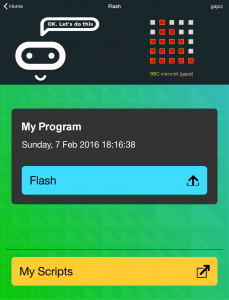 Flash your code to the micro:bit