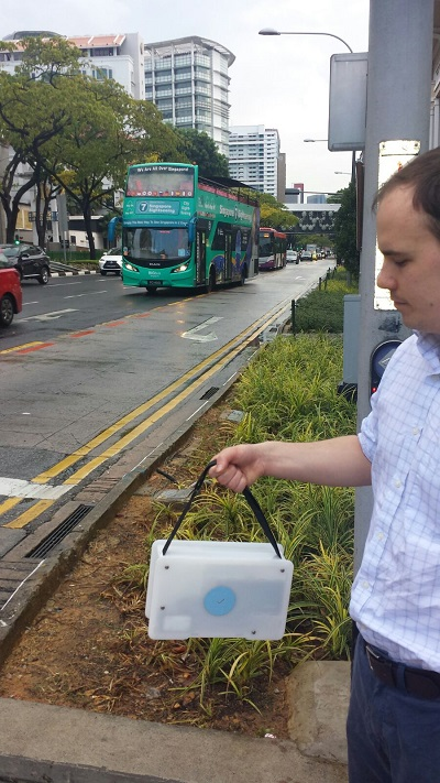 Collecting pollution data in Singapore